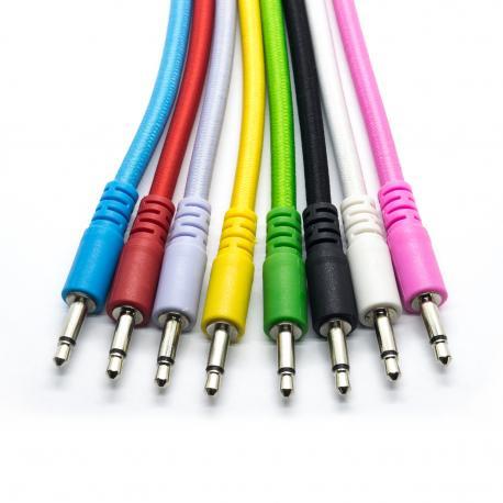 ซื้อ 3 x 60cm Nylon Braided Eurorack Patch Cables, 3.5mm mono (Green, N/A) ออนไลน์